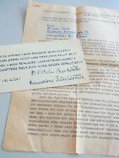 Dirigent  Wilhelm BUSCHKÖTTER (1887-1967): Grußkarte & Rundbrief an Erwin KROLL