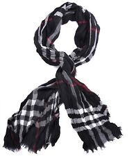 Burberry Giant Icon Check Black Red Scarf Muffler