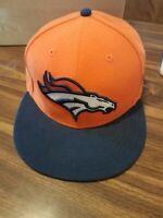 New Era Denver Broncos Size 7 1/2 Fitted Hat Cap NFL