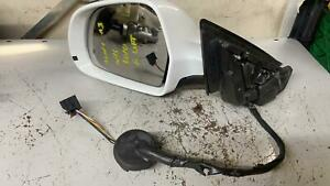Audi A3 8P 2010 N/S Passenger Electric Wing Door Mirror Face Lift in White