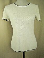 ESCADA Ivory Knitted Top with White Pearls Beaded Embellishment 10 (40)