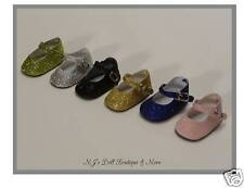 Silver Sparkle Mary Jane Shoes fits American Girl Doll