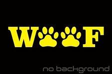 WOOF Paw Prints Sticker Vinyl Decal Dog Animal Puppy Cute Rescue Pet Car Window