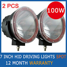 "PAIR 7 INCH 100W HID XENON DRIVING LIGHTS SPOTLIGHT OFFROAD 7"" SPOTLIGHT 4000i"