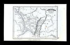 1877 Vuillemin Map - Historic France - Rhine Bassin Strasbourg Nancy Metz Colmar
