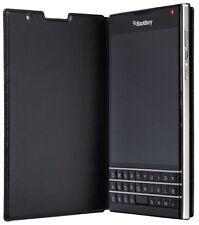 Genuine BlackBerry Passport Leather Flip Case Cover - Black
