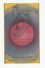 Kelly Tire Shop Vintage Advertising Card