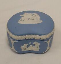 New ListingWedgwood Jasperware Kidney Trinket Box Pale Blue