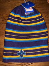 NBA Adidas New Orleans Hornets Reversible Striped And Sold Color Tall Beanie