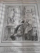 Caricature 1890 Un Tableau Femme nue une photo pour la couverture de livre