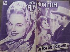 """MON FILM 1947 N 36 """" LA LOI DU FAR-WEST """"avec CLAIRE TREVOR et ALBERT DEKKER"""