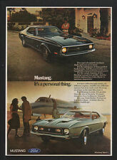 1971 FORD MUSTANG Mach 1 Sports Car - Its A Personal Thing - Jet - VINTAGE AD