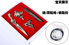 Final Fantasy FF necklace keychain 4PCS set box cosplay anime gifts