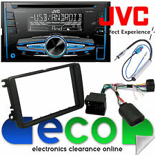 VW Passat CC JVC Double Din Cd MP3 Usb Voiture Stéréo & Volant Kit de montage