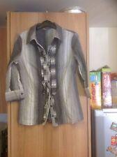 Per Una Women's Striped Cotton Blend Collared Tops & Shirts