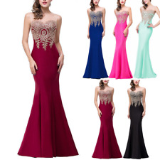 Womens Bridesmaid Long Dress Mermaid Formal Party Wedding Cocktail Evening Prom