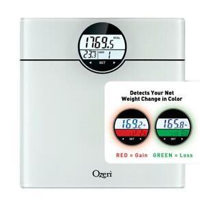 Ozeri Bath Scale Weight 440 lbs 200 kg BMI BMR 50 gram Weight Change Detection