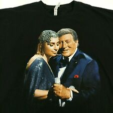 Tony Bennett & Lady Gaga Cheek To Cheek Live! Tour-Black T-shirt Size 2XL