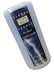 Yankee Candle Storm Watch Pillar Candle Sealed 2.8 Inches X 6 Inches Light Blue