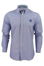 New Mens Santa Monica Oxford Long Sleeve Shirt Button Up Collard Size S-XL