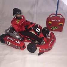 Vintage Taiyo Edge Dale Earnhardt Jr #8 RC Go Cart, Action Figure & Remote