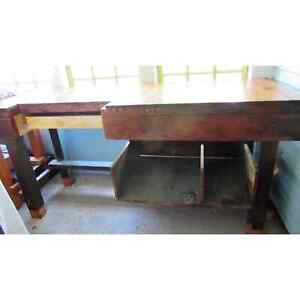 1900s Workbench  - industrial Bench - kitchen Work Table  - 20s - Standing Desk