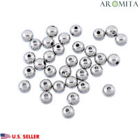 Wholesale Stainless Steel Round Spacer Beads Jewelry Crafts Findings 6mm Dia