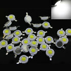 Hot 50x 1W Cold White High Power LED Lamp Beads Bulb Chip 100~110LM 6000~6500K