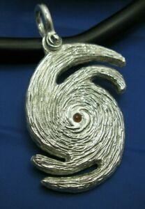 XL Sterling Silver CAT 5 Hurricane Perfect Storm Pendant With Shackle Bail