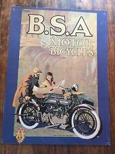 BSA Motor Bicycles Tin Sign