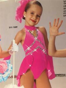 Dance Costume Jazz Tap Skate Pink Medium Child Art stone flirt