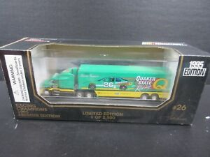 1995 Racing Champions Nascar Transporter # 26 Steve Kinser-- 1/64th scale