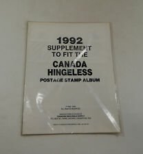 Canadian Wholesale Supply Canada Hingeless 1992 Supplement Stamp Album Pages