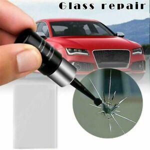 Repair Cracked Glass Kit Window Car Fluid Screen Resin Phone Black Windshield#