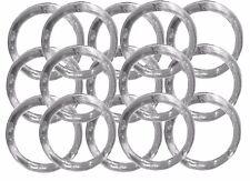 "12 Napkin Rings plastic acrylic 1.75"" diameter- Clear"