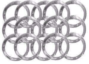 "144 Napkin Rings plastic acrylic 1.75"" diameter- Clear"