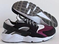 Nike Men'S Air Huarache Premium ID Fleece Black-Grey-Purple SZ 10.5 [777330-995]