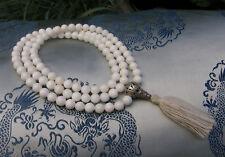 Besonders schöne MALA Gebetskette aus WEIßER Jade aus NEPAL! 8,3mm