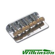New Guitar Parts Wilkinson Bass Bridge - Chrome