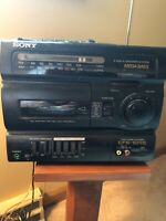 Sony CFS-1055 AM/FM Radio Cassette Corder Boombox 4Band 2way 4Speaker Mega CD TV
