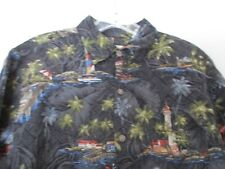 Hawaiian Floral Batic Bay Men's Size Small Short Sleeve Button Front Shirt
