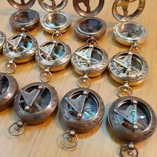 Lot of 24 Brass Sundial Push Button Mini Compass Marine