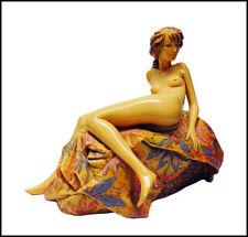 Frank Gallo Original Resin Nude Sculpture Painting Signed Art Awakening Beauty