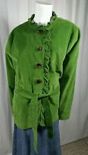 Womens LL Bean Corduroy Button Front Coat Jacket Size 20W