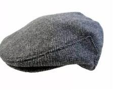 New John Hanly Gray Irish Tweed Wool Flat Driving Cap Biddy Murphy Hat 7 1/8 58