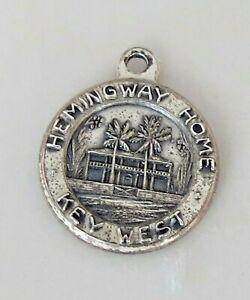 Vintage B&K HEMIINGWAY HOME KEY WEST Sterling Silver Charm
