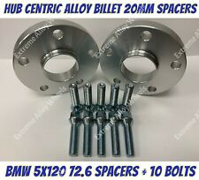 Alloy Wheel Spacers 20mm x 2 Bmw 1 2 3 5 6 7 8 Series M12x1.5 Bolts 5x120 72-6