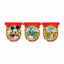 DISNEY MICKEY MOUSE CLUBHOUSE GOOFY DONALD DUCK - 3 METRE ~ BUNTING FLAG BANNER