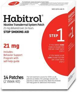 Habitrol Nicotine Transdermal System Stop Smoking Aid, Step 1 (21mg), 14 Patches