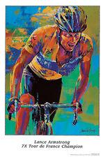 Lance Armstrong 7X Tour de France Champion  Malcolm Farley  Print Poster 19x28